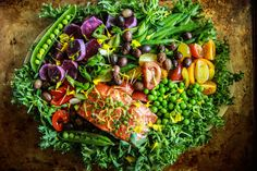 Grilled Salmon Nicoise Salad with Meyer Lemon Chive Vinaigrette | Heather Christo