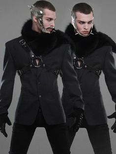 and extremely hot at the same time?Hideous and extremely hot at the same time? Dark Fashion, Fashion Art, High Fashion, Mens Fashion, Fashion Design, Mode Cyberpunk, Cyberpunk Fashion, Alternative Mode, Alternative Fashion