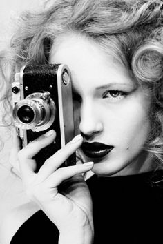 #black and white #camera @Alexander Rostof - one for you; face and photography ;)