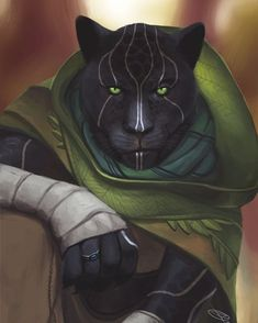 f Tabaxi Monk Cleric multi-class Lt Armor Cloak character Snowball by David Rodrigues d&d DnD [ART] med Cat Character, Fantasy Character Design, Character Creation, Character Design Inspiration, Character Concept, Dungeons And Dragons Characters, Dnd Characters, Fantasy Characters, Bastet