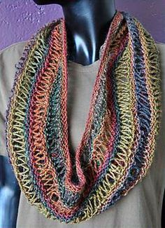 Ravelry: Drop-Stitch Scarf in Sausalito pattern by Susan Druding (free pattern)