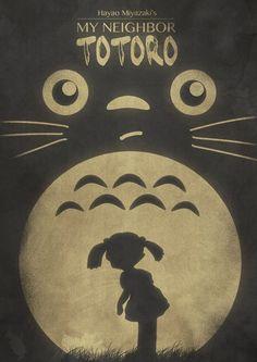 My Neighbor Totoro Studio Ghibli It seems like such a short film when it really isnt. Wish it was longer but I will always love totoro Hayao Miyazaki, Anime Sexy, Illustrations, Illustration Art, Totoro Poster, Studio Ghibli Movies, My Neighbor Totoro, Animation Film, Howls Moving Castle