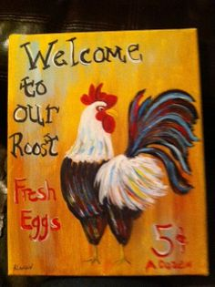 Country Decorative Chicken Painting  on by CountrypaintingsbyBL, $20.00