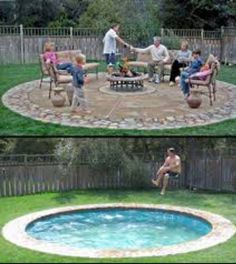Hidden Water Pool. SO freakin cool, turns into a patio... safer and ...