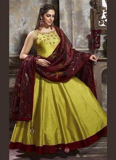 befc02b3324 Designer Banglori Silk Hand Work Wedding Wear Gown Wholesale Collection  7353  gowns  shopping