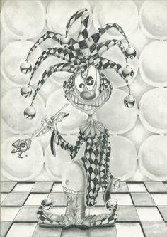 sketch Palhaço- feito por Darci Campioti visite meu blog: http://institutodeartesdarcicampioti.blogspot.com.br