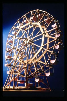 Is this close to what you were talking about with the popsicle stick ferris wheel thingy?
