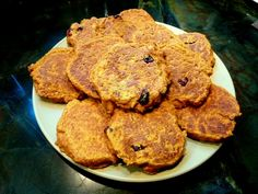 Pumpkin Oatmeal Pancakes with Blueberry Compote Ingredients: 2 cup ...