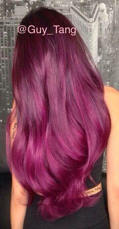 Burgundy purple bayalage