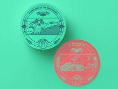Beer Coasters Eagle and Ram
