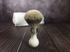 Vintage Style Ivory-like Personalized Engraved Pure SilverTip Badger Hair Wet Shaving Shave Brush Mens Gift For Him Man Husband Father Boyfriend Best Friend Gifts Best Shaving Razor, Shaving Brush, Wet Shaving, Boyfriend Best Friend, Boyfriend Gifts, Vintage Style, Vintage Fashion, Badger, Pure Products