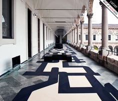 STRIP Data-Protection-Pattern on Carpet by J. MAYER H ARCHITECTS ( Juergen Mayer H., Wilko Hoffmann) (INTERNI LEGACY)  photo © Saverio Lombardi Vallauri