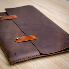 Dark Brown with Straps Macbook Pro Retina 13 inch Case New 12 inch Macbook Men Leather Sleeve Leather Cover Case Leather Portfolio Folio