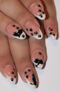 Paw Print Nails-- Cute, but I'm more of a dog person.. I would find a way to get a cute little puppy head on there (;