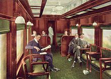 Panama Limited dinning car in 30's or 40's