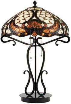 "Lite Source C41069 Benard Tiffany Black Bronze Finish 17"" Wide Table Lamp Lighting - LS-C41069"