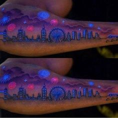 tatuagem que brilha no escuro