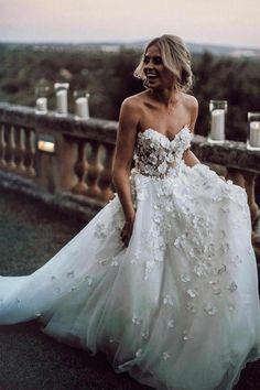 56646ce04aea Sweetheart Neck Tulle Wedding Dresses Appliqued Wedding Gowns WD327   weddingdress  wedding  weddinggown