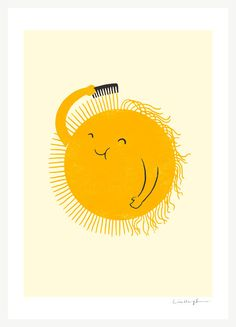 Bad Hair Day - Art Print. $30.00, via Etsy. This so perfect for Oliver! Must get it for his room!