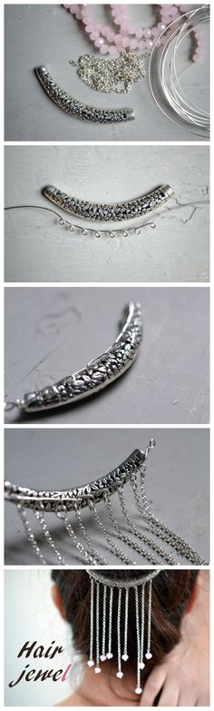 Hair Jewels Diy Project -We Like Craft