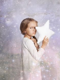 Love the stars backdrop overlay here, beautiful shots for Amiki kids luxury sleepwear fall 2014