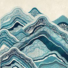 Blue Hike Canvas Print by Rskinner1122
