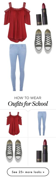 """""""School Outfit"""" by siennacat06 on Polyvore featuring Lipstick Queen, Dorothy Perkins and Converse"""