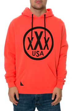 10 Deep Hoodie Signed & Sealed in Safety Red