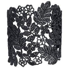 YABINA Vintage Flower Leaf Hollow Wide Opening Adjustable Cuff Bangle... (675 RUB) ❤ liked on Polyvore featuring jewelry, bracelets, vintage bangles, vintage cuff bracelet, leaf jewelry, flower jewellery and wide bangle