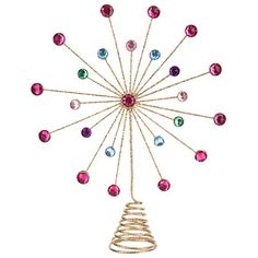 Starburst Gem Tree Topper | Poundland Tree Toppers, Xmas, Christmas, Tis The Season, Tree Decorations, Hair Accessories, Seasons, Holidays, Holidays Events