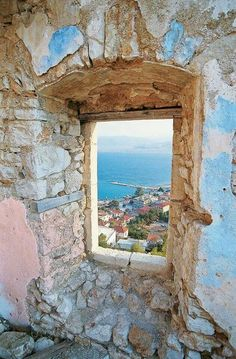 Through any window.... It's magical Greece!