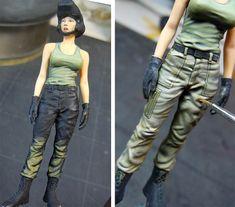 Military Figures, Military Diorama, Model Ship Building, Female Pilot, Model Ships, Figure Painting, Parachute Pants, Capri Pants, Blog Entry