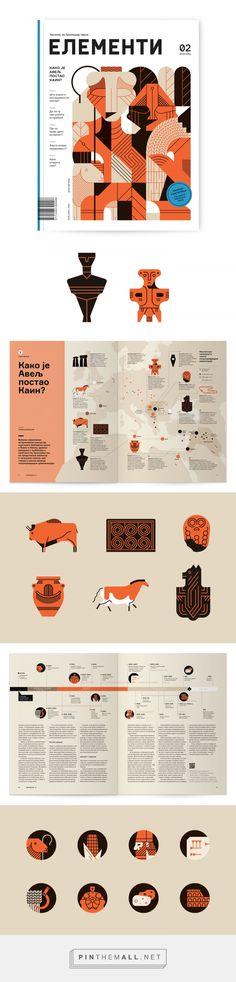 Elementi Magazine 2 – illustrations on Behance - created via https://pinthemall.net