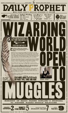 Daily Prophet - Wizarding World Open to Muggles Printable