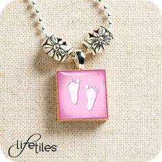 Pink Baby Feet - LifeTiles Necklace $14.99