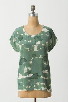 Anthropologie blouse - beautiful, but I can't wear silk
