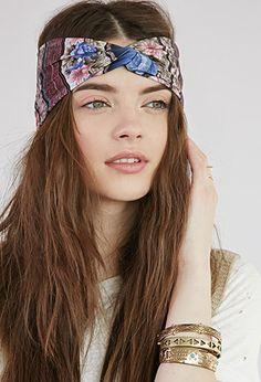 Rose Tribal Print Headwrap   Forever 21 - 1000053333