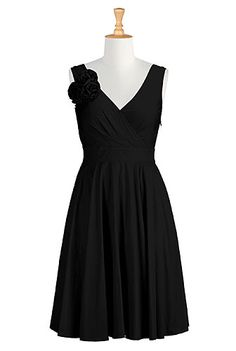I <3 this Taylor dress from eShakti  Customize sleeves to be elbow length for winter dinner dress or a holiday dress.  Per-fit!