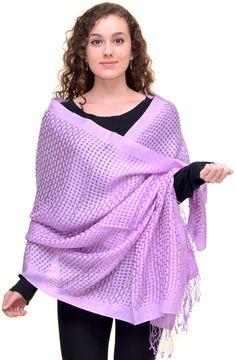 Lavender / Violet Pashmina http://www.homeofpashmina.com/designer-pashminas-basket-weave-c-4_11.html