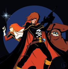 Albator - Captain Harlock by *BlackCyanide-fr on deviantART