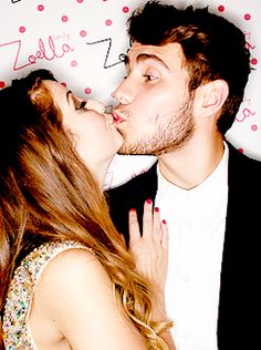 OMG. This photo is super cute. I think that Zoe and Alfie make the perfect couple. When I am older I want a relationship as cute as Zalfie. <3