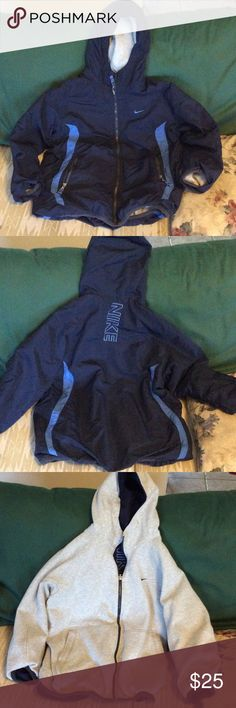 Nike reversible coat, heavy jacket Boy's Nike coat /heavy jacket. It is reversible and in excellent condition. Nike Jackets & Coats