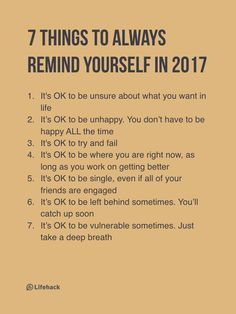 7 things to always remind yourself...