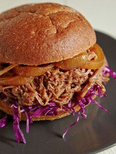 After slow cooking a pulled brisket, this meat is so soft and flavorful, it makes a perfect sloppy-joe-style burger! See for yourself when you follow this Pulled Brisket Burger recipe! http://www.joyofkosher.com/recipes/pulled-brisket-burger/