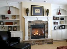 Our Fireplace & Bookshelves