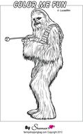 Star Wars Colouring Pages Chewbacca Wookie Coloring