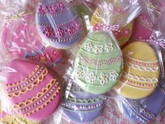 Pretty Pastel Easter Egg Cookies