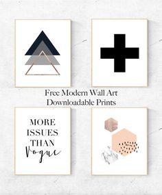 Free Modern Wall Art Downloadable Prints