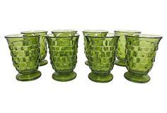 $249.00  $425.00 Estimated Market Value    Era: Vintage  Condition: Excellent  Green Glasses, S/8 on OneKingsLane.com