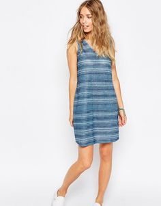 Buy it now. ASOS Shift Sundress In Stripe - Multi. Casual dress by ASOS Collection, Lightweight jersey, V-neckline, Tonal stripe print, Loose fit - falls loosely over the body, Machine wash, 100% Polyester, Our model wears a UK 8/EU 36/US 4 and is 175 cm/5'9 tall. ABOUT ASOS COLLECTION Directional, exciting and diverse, the ASOS Collection makes and breaks the fashion rules. Scouring the globe for inspiration, our London based Design Team is inspired by fashion�s most covetable trends…